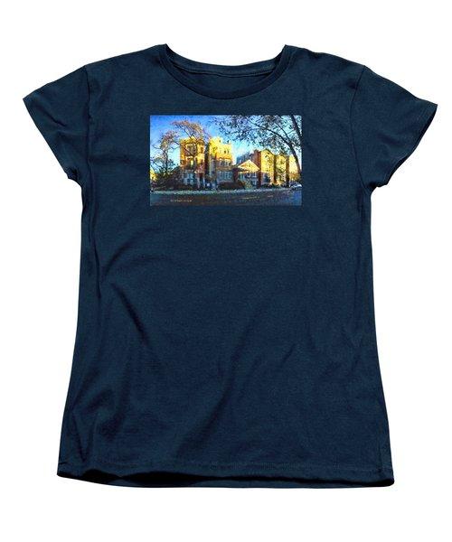 Morning In Bucktown Women's T-Shirt (Standard Cut) by Dave Luebbert