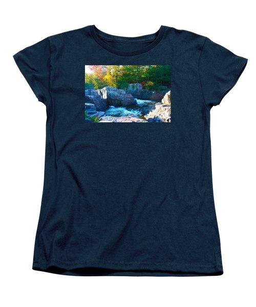 Morning In Eau Claire Dells Women's T-Shirt (Standard Cut) by Tiffany Erdman