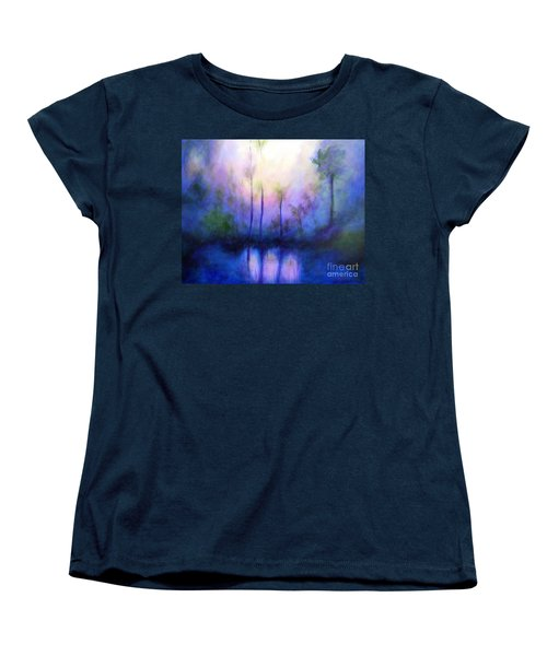 Women's T-Shirt (Standard Cut) featuring the painting Morning Symphony by Alison Caltrider