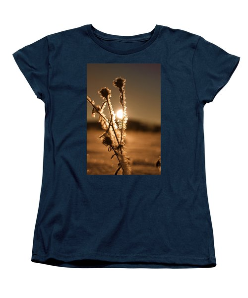 Women's T-Shirt (Standard Cut) featuring the photograph Morning Walk by Miguel Winterpacht