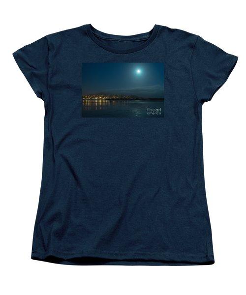 Morro Bay At Night Women's T-Shirt (Standard Cut) by Terry Garvin