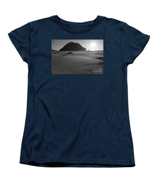 Morro Rock Silhouette Women's T-Shirt (Standard Cut) by Terry Garvin