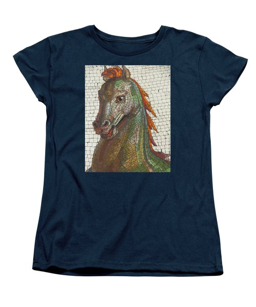 Women's T-Shirt (Standard Cut) featuring the photograph Mosaic Horse by Marcia Socolik