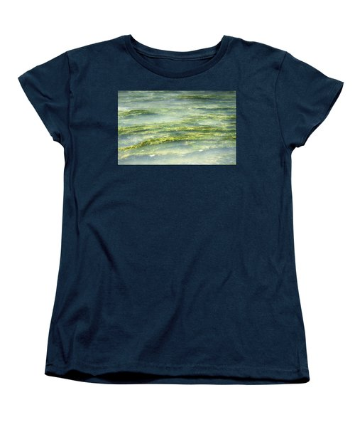 Women's T-Shirt (Standard Cut) featuring the photograph Mossy Tranquility by Melanie Lankford Photography