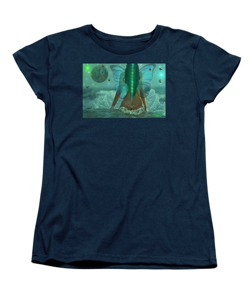 Women's T-Shirt (Standard Cut) featuring the digital art Mother Nature by Michael Rucker