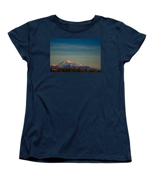 Mount Baker Sunset Women's T-Shirt (Standard Cut) by Charlie Duncan