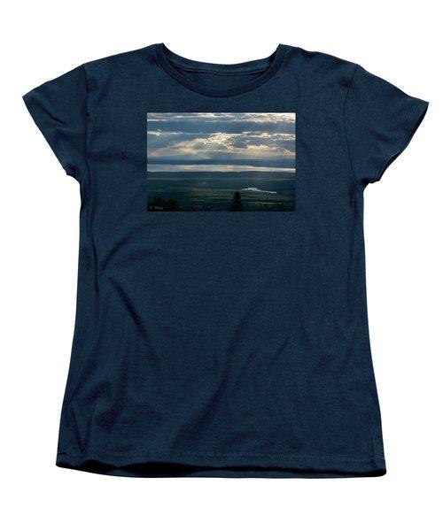 Mount Susitna Women's T-Shirt (Standard Cut) by Andrew Matwijec