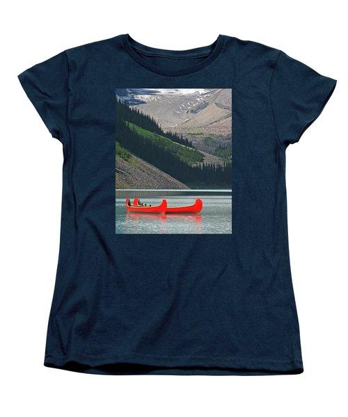 Mountain Canoes Women's T-Shirt (Standard Cut) by Marcia Socolik