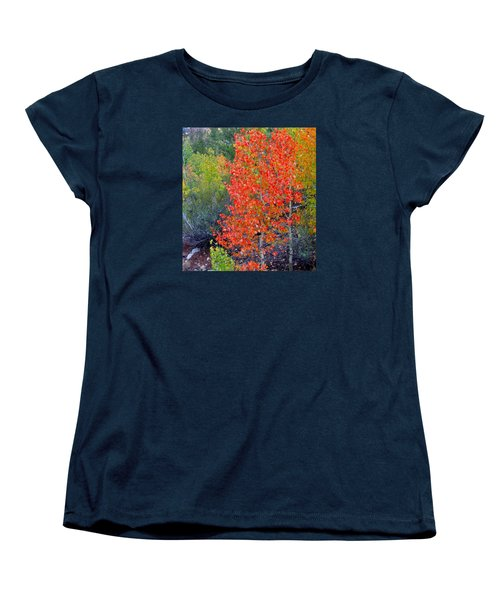 Women's T-Shirt (Standard Cut) featuring the photograph Mountain Color by Marilyn Diaz