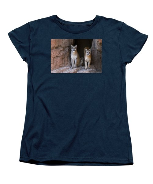 Women's T-Shirt (Standard Cut) featuring the photograph Mountain Lion 2 by Arterra Picture Library