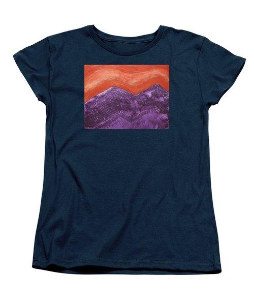 Mountain Majesty Original Painting Women's T-Shirt (Standard Cut) by Sol Luckman