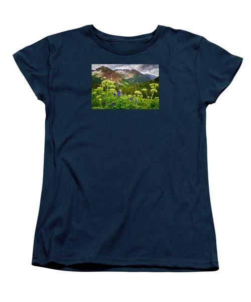 Mountain Majesty Women's T-Shirt (Standard Cut) by Priscilla Burgers