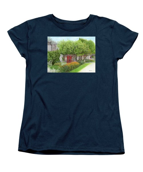 Women's T-Shirt (Standard Cut) featuring the painting Mountain Playhouse Jennerstown Pa by Albert Puskaric
