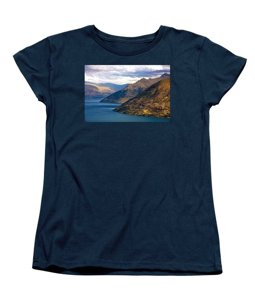 Mountains Meet Lake Women's T-Shirt (Standard Cut) by Stuart Litoff