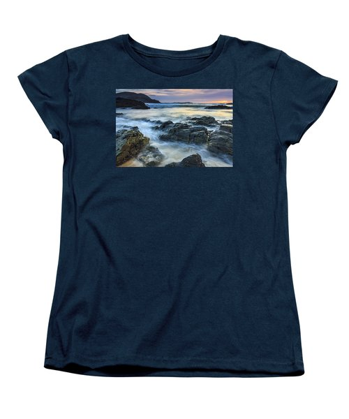 Women's T-Shirt (Standard Cut) featuring the photograph Mourillar Beach Galicia Spain by Pablo Avanzini