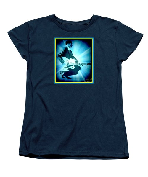 Mr Chuck Berry Blueberry Hill Style Edited 2 Women's T-Shirt (Standard Cut) by Kelly Awad