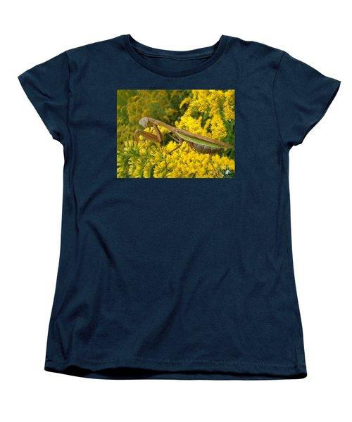 Women's T-Shirt (Standard Cut) featuring the photograph Mr. Mantis by Sara  Raber
