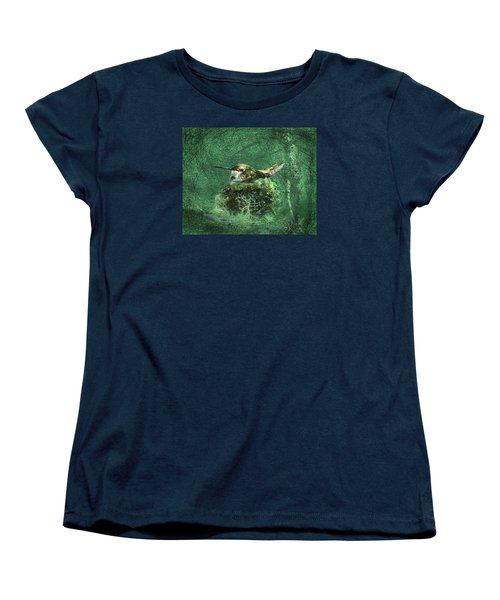 Women's T-Shirt (Standard Cut) featuring the photograph Mrs. Rufous by I'ina Van Lawick