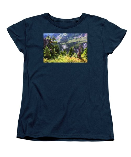 Mt. Baker Washington Women's T-Shirt (Standard Cut) by Tom Janca