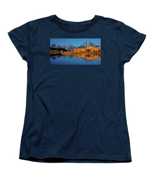 Mt. Moran Reflection Women's T-Shirt (Standard Cut) by Ed  Riche