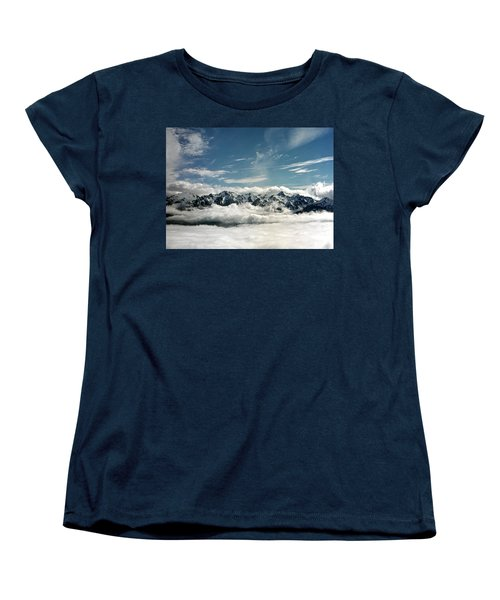 Women's T-Shirt (Standard Cut) featuring the photograph Mt Olympus by Greg Reed