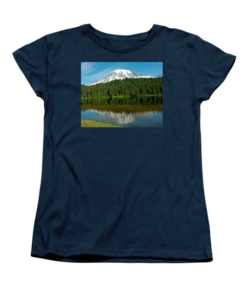 Women's T-Shirt (Standard Cut) featuring the photograph Mt. Rainier II by Tikvah's Hope