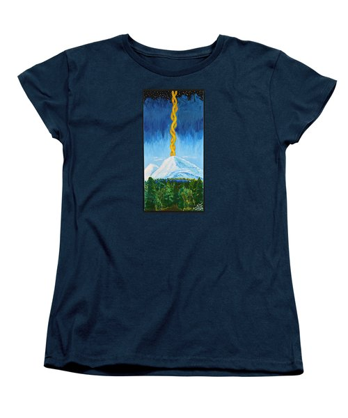 Women's T-Shirt (Standard Cut) featuring the painting Mt. Shasta by Cassie Sears