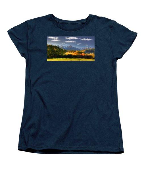 Mt Sneffels And The Dallas Divide Women's T-Shirt (Standard Cut) by Ken Smith