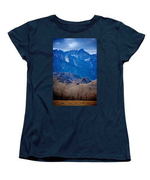 Mt. Whitney And Alabama Hills Women's T-Shirt (Standard Cut) by Eric Tressler