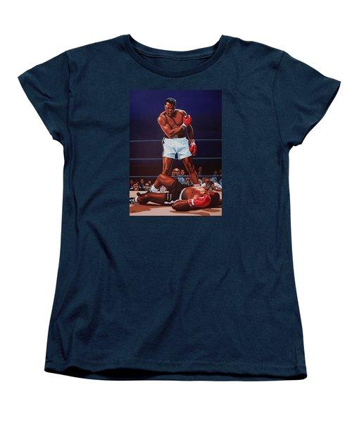 Muhammad Ali Versus Sonny Liston Women's T-Shirt (Standard Cut) by Paul Meijering