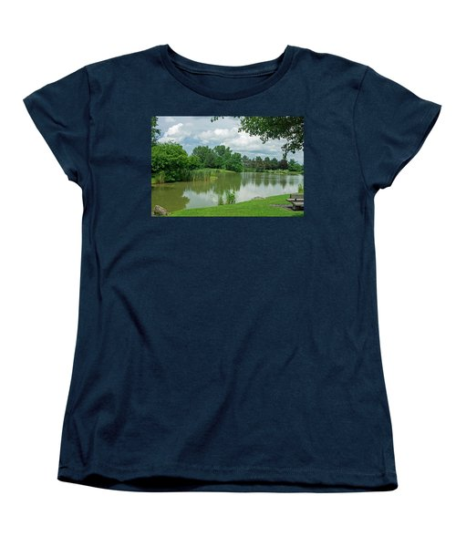 Muller Chapel Pond Ithaca College Women's T-Shirt (Standard Cut) by Photographic Arts And Design Studio