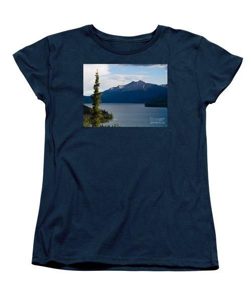 Muncho Lake Women's T-Shirt (Standard Cut) by Tara Lynn