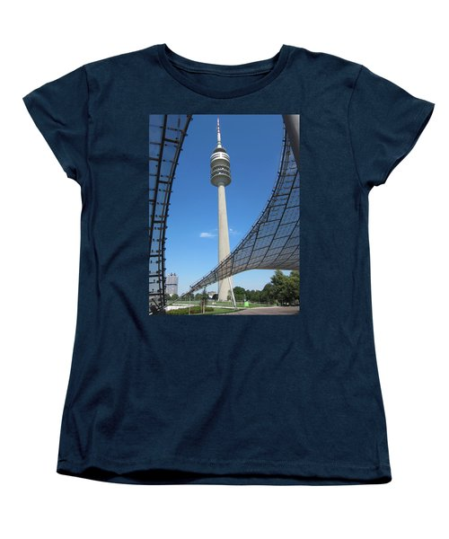 Women's T-Shirt (Standard Cut) featuring the photograph Munich Olympic Tower by Pema Hou