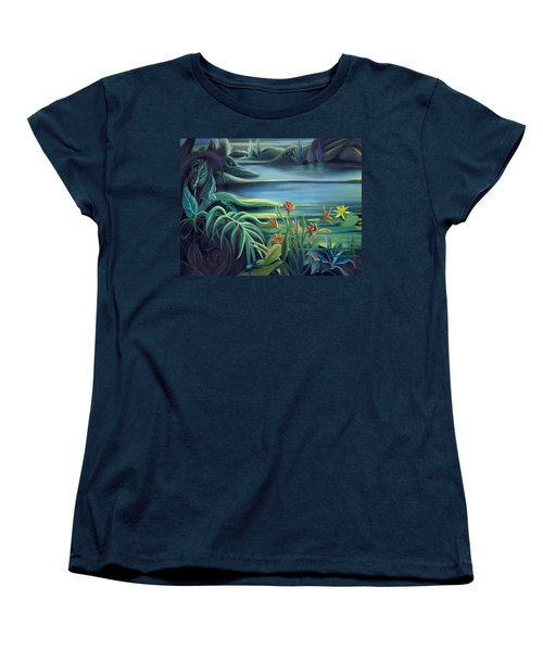 Mural Bird Of Summers To Come Women's T-Shirt (Standard Cut) by Nancy Griswold