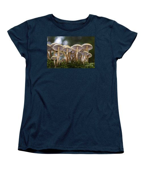 Mushroom Forest Women's T-Shirt (Standard Cut) by Sonya Lang