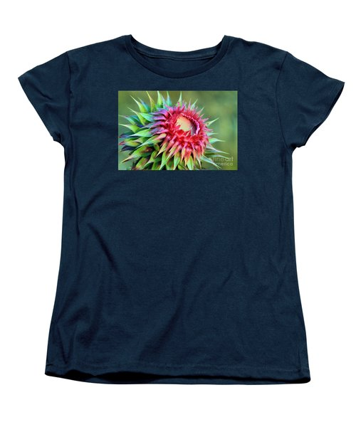 Women's T-Shirt (Standard Cut) featuring the photograph Musk Thistle by Teresa Zieba