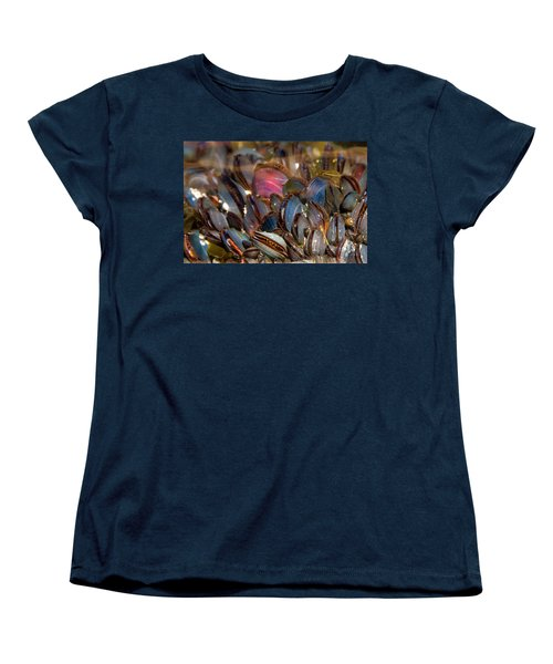 Mussels Underwater Women's T-Shirt (Standard Cut) by Peggy Collins