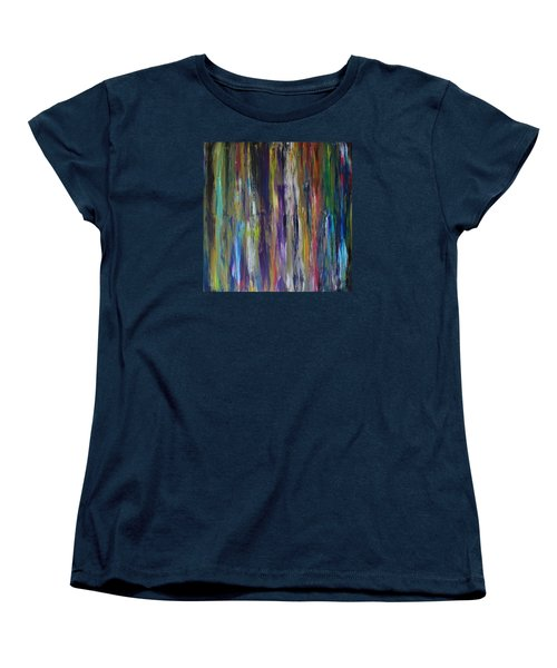 Women's T-Shirt (Standard Cut) featuring the painting Must First Survive Thyself by Michael Cross