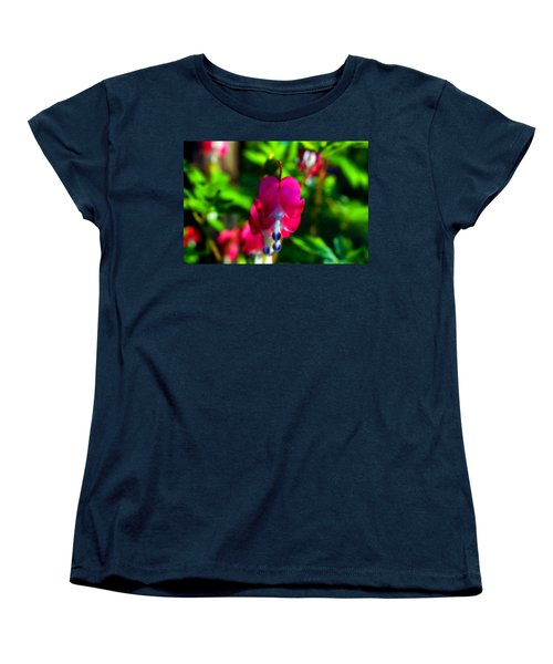 Women's T-Shirt (Standard Cut) featuring the photograph My Bleeding Heart by Peggy Franz