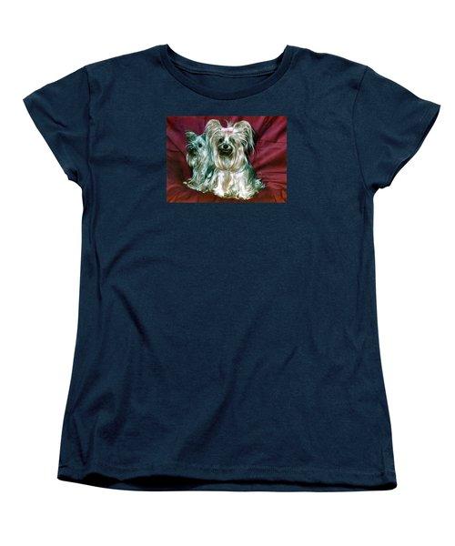 Women's T-Shirt (Standard Cut) featuring the photograph My Friends Yorkies by Phyllis Kaltenbach