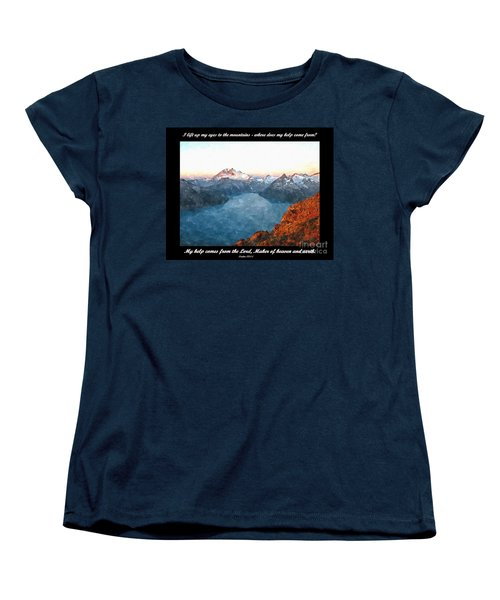 My Help Comes From The Lord Women's T-Shirt (Standard Cut) by Sara  Raber