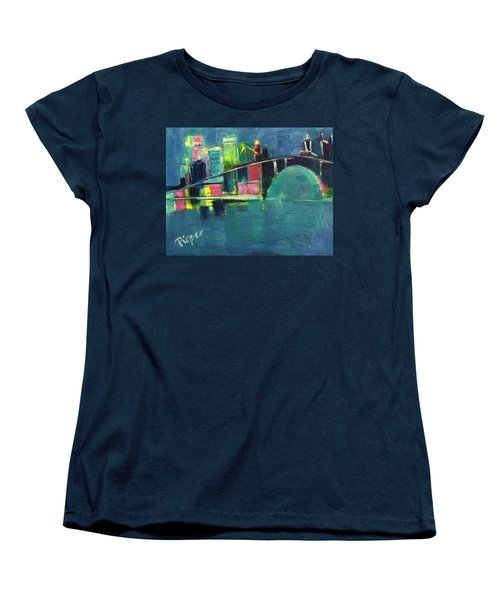 Women's T-Shirt (Standard Cut) featuring the painting My Kind Of City by Betty Pieper