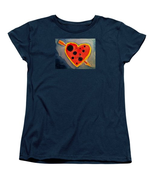 Women's T-Shirt (Standard Cut) featuring the painting Imperfect Love by Rand Swift