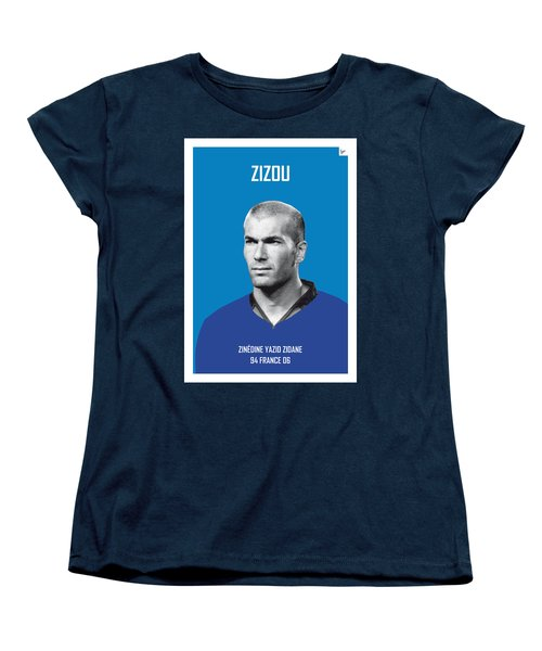My Zidane Soccer Legend Poster Women's T-Shirt (Standard Cut) by Chungkong Art