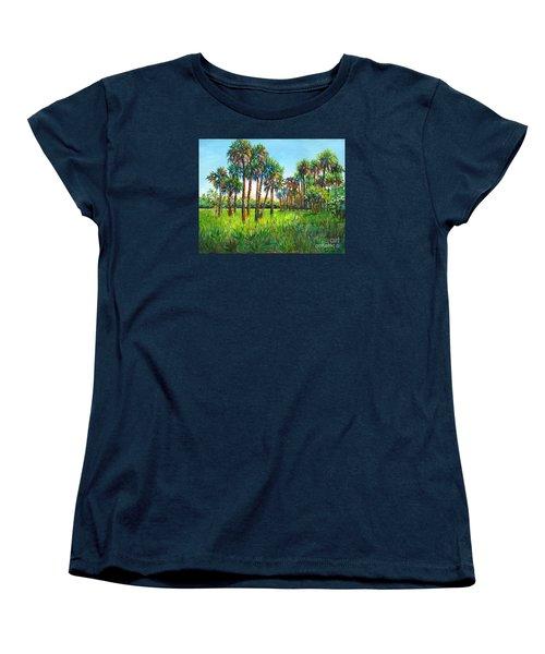 Myakka Palms Women's T-Shirt (Standard Cut) by Lou Ann Bagnall