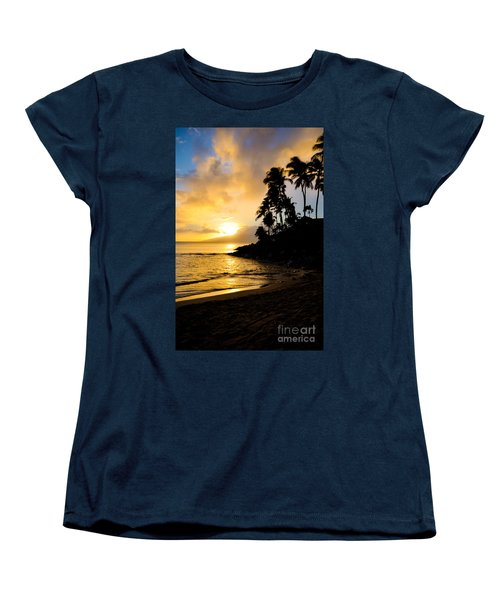 Women's T-Shirt (Standard Cut) featuring the photograph Napili Sunset Evening  by Kelly Wade