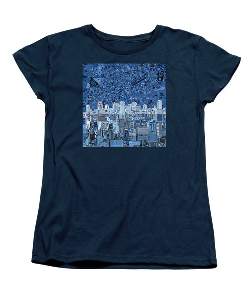Nashville Skyline Abstract Women's T-Shirt (Standard Cut) by Bekim Art