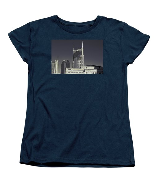Nashville Tennessee Batman Building Women's T-Shirt (Standard Cut) by Dan Sproul