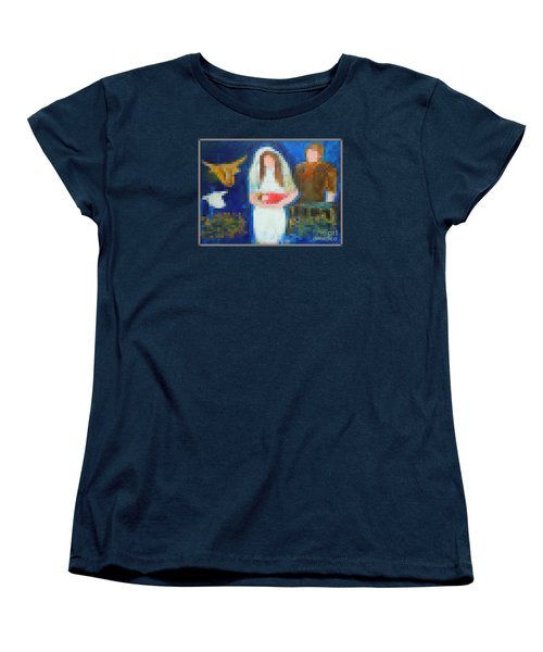 Nativity 1  Women's T-Shirt (Standard Cut) by Richard W Linford