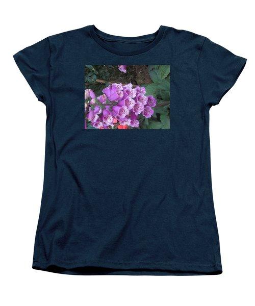 Women's T-Shirt (Standard Cut) featuring the photograph Natural Bouquet Bunch Of Spiritul Purple Flowers by Navin Joshi